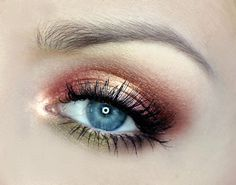 'Romantic Look' by Aniqua using Makeup Geek's Appletini, Bleached Blonde, Burlesque, Cupcake, and Mango Tango eyeshadows.