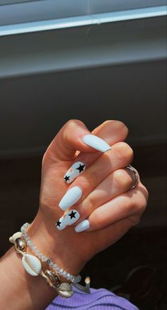 Acrylic Nails Coffin Short, Simple Acrylic Nails, Summer Acrylic Nails, Acrylic Nail Designs, Simple Nails, Casual Nails, Stylish Nails, Trendy Nails, Western Nails
