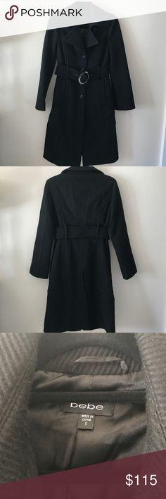 Bebe trench coat Bebe trench coat, size small. Perfect for winter bebe Jackets & Coats Trench Coats