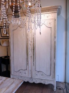 Painted French Oak Armoire