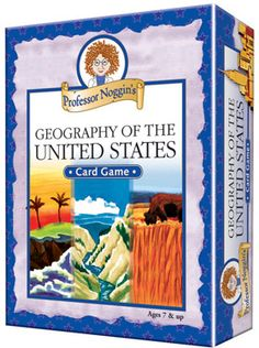 Professor Noggin's Geography of the U.S. | Family Games | Vermont Christmas Co. VT Holiday Gift Shop