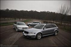 Audi RS4 B5. Three sorts of wheels.