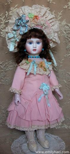 Steiner A19 French Bebe porcelain reproduction by Emily Hart of emilyhartdolls on Etsy