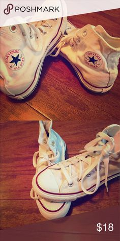 White Hightop Converse Size 6 Size 6 White Converse Hightops  Converse Shoes Athletic Shoes