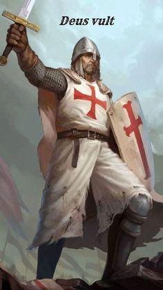 Knights Templar Symbols, Fallout Power Armor, Kingdom Of Jerusalem, Crusader Knight, Christian Warrior, Medieval Knight, Ottoman Empire, 12th Century, Historical Pictures