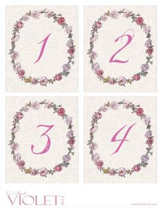 Pink Rose Wreath Tab