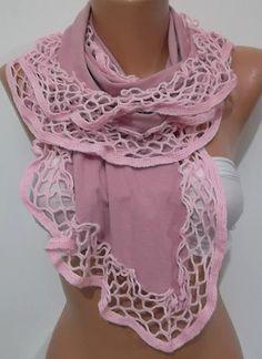 Georgeus  Scarf  Elegance Scarf  Feminine Scarf  Pink by womann, $20.00