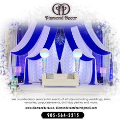 The Diamond decor is the top-rated event decor company in Mississauga. Call 905-564-2215 to know more. Our services parties decor, wedding decor, corporate event decor, baby shower, birthday parties, etc. Decor Wedding, Wedding Decorations, Diamond Decorations, Corporate Events, Event Decor, Top Rated, Birthday Parties, Baby Shower, Ceiling Lights