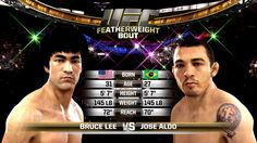 EA Sports UFC - Bruce Lee VS Jose Aldo Featherweight Championship