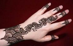 Arabic Mehndi design back finger