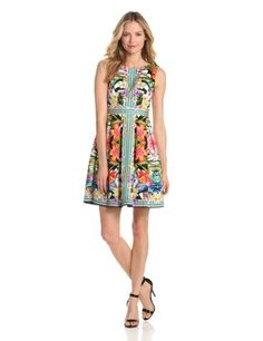 Maggy London Women's Mirror Print Fit And Flare Dress, Coral, 2 Maggy London,http://www.amazon.com/dp/B00BBUR1BO/ref=cm_sw_r_pi_dp_djUWrbD59FF540A7
