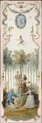 Décor d'arabesques du grand salon du château de Voré , dans l'Orne © RMN-GP (musée du Louvre) / René-Gabriel Ojéda