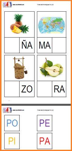 Hoy os traemos unas fichas lecto-fonéticas para que uséis con vuestros niños/as…