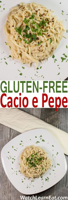 For a twist on the classic Italian dish, this Gluten-Free Cacio e Pepe is made with chicken broth and features a colorful peppercorn medley, Pecorino Romano and Parmesan.