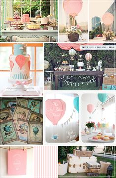 air balloon themed shower