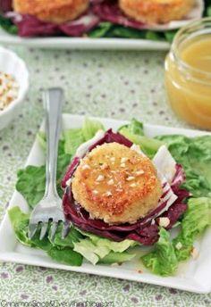 Goat Cheese Salad with Honey White Wine Vinaigrette