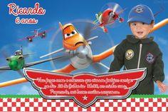 Convite digital personalizado Aviões da Disney com foto 006