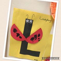Letter L.  L is for Ladybug.