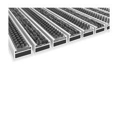 Clean ryps-scrub (wkład tekstylny i szczotkowy) Wycieraczka Aluminiowa (100x100cm) .Wycieraczka z elementami czyszczącymi w postaci szczotek i wkładami osuszającymi osadzonymi w aluminiowych profilach. Połączenie obydwu elementów umożliwia czyszczenie obuwia z błota, śniegu , a także osuszanie z wilgoci. Wkłady osuszające odporne są na