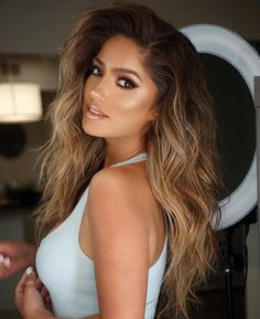 WEBSTA @ jessicaburciaga - Today's first glam session w/ @adamlesimmons Hair