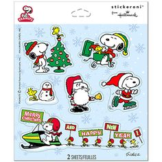 Peanuts Christmas Party Stickers (2 Sheets)