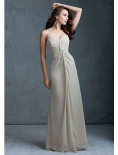 Sheath Sweetheart Floor-length Chiffon Bridesmaid Dress - but obviously in red...