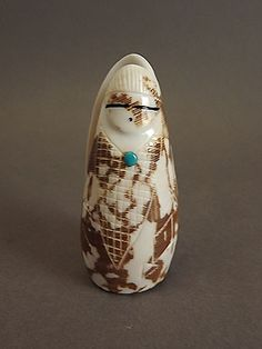 Corn Maiden, Double Sided, Shell by Daniel Chattin (Zuni)