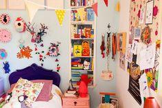 Casinha da Sophia: Muita cor no quarto dos sonhos, porque é primavera...