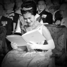 October , 1960 Their Majesties The King & The Queen Of Thailand on official  visit to Holland, Gala Concert Royal Military Chapel in Kurzaal Hague.