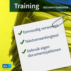 Ontdek alle gemakken van onze geïntegreerde tekstverwerkingstool voor uw documentenbeheer tijdens de training Documentenbeheer. Schrijf u direct in via https://bcsacties.nl/product/documentenbeheer/