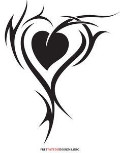 Tribal Love Tattoos | 55 Heart Tattoos | Love And Sacred Heart Tattoo Designs
