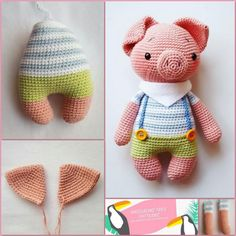 Amigurumi Little Piglet Free Pattern - Patrones de amigurumi Piglet, Single Crochet Decrease, Magic Circle, A Hook, Slip Stitch, Amigurumi Patterns, Crochet Hooks, Your Child, Free Pattern