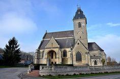 Eglise Saint-Médard .Croix-Moligneaux (Somme) - Picardie