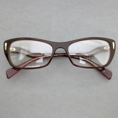 FACE A FACE PARIS SWANN BURGUNDY GOLD GLASSES SPECTACLE FRAMES EYEGLASSES BRILLE #FaceaFace