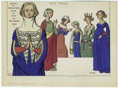 (Period Costume) Jeanne de Badlesmere,1330 French Ladies,1358