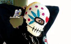 Free Pattern. Sugar Skull winter Mask