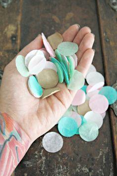 Pom Confetti ... Pick Your Colors // wedding decor // door pomtree, $10.00