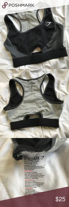 Gymshark Sports Bra - Worn Once! Gymshark Sports Bra with a cellphone holder in the back. Fits very snug. Only worn once because it's too tight on me. Gymshark Intimates & Sleepwear Bras