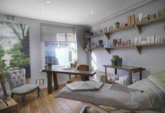 Beauty Room: cabina per rituali di bellezza, trattamenti e massaggi [ comfort zone ] nello store Davines UK all'interno di Ena Salon