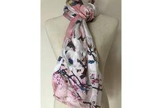 Foulard en tissus de soie japonais fleuri motifs fleurs de cerisier du  Japon Cerisier Japonais, 3563e678c29
