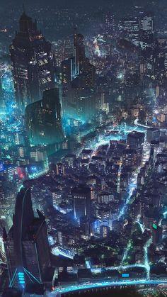 Cyberpunk City iPhone Wallpaper - iPhone Wallpapers