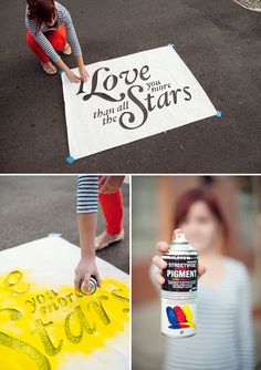 Chalk Stencils with spray chalk Diy Projects To Try, Craft Projects, Craft Ideas, Chalk Spray Paint, Fun Crafts, Crafts For Kids, Do It Yourself Baby, Chalk It Up, Decoration