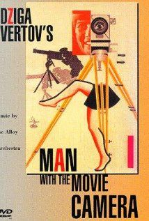 MAN WITH A MOVIE CAMERA is an experimental 1929 silent documentary film, with no story and no actors, by Russian director Dziga Vertov, edited by his wife Elizaveta Svilova