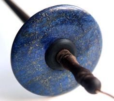 Drop Spindle Top Whorl Lapis Lazuli Tool for Spinning Yarn. $39.00, via Etsy.