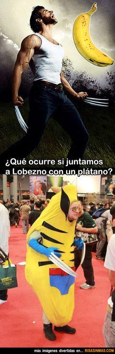 ¿Qué ocurre si juntamos a Lobezno con un plátano