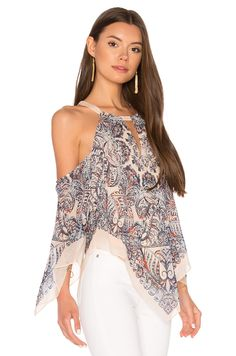 BCBGMAXAZRIA Jax Top in Light Shadow Blue Combo | REVOLVE