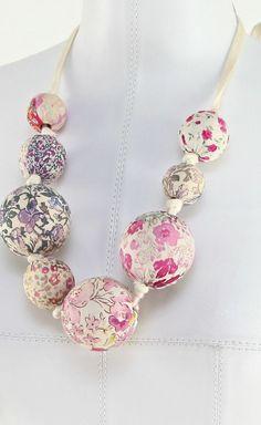 LOUIS VUITTON Pink Multicolor Floral Print Silk Necklace