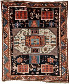 Caucasian Kazak Rug, last quarter century, 7 ft. x 6 ft.