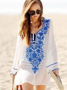 daf6b743d40e8 Sexy Women Blouses Beach Long Strapless Hollow Dress. New Arrivals Beach  Cover up Rayon Swimwear ...