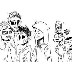 everyone wants delirious attention(especially Vanoss) Lui Calibre, H20 Delirious, Mini Ladd, Vanoss Crew, Banana Bus Squad, The Right Man, Youtubers, Joker, Fandoms